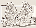 Babysitters Nepgear and Uni uploaded by xion