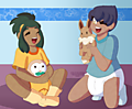Pkmn: Rival Playdate uploaded by Ad-Sd-ChibiGirl